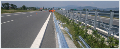 Road barriers production